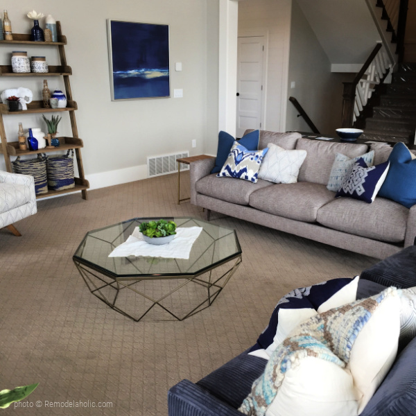 Neutral Blue Living Room Decor Ideas, UVPH 2016 HOME 10 Millhaven Homes, Photo Remodelaholic