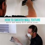 How To Smooth Wall Texture With An Easy DIY Skim Coat