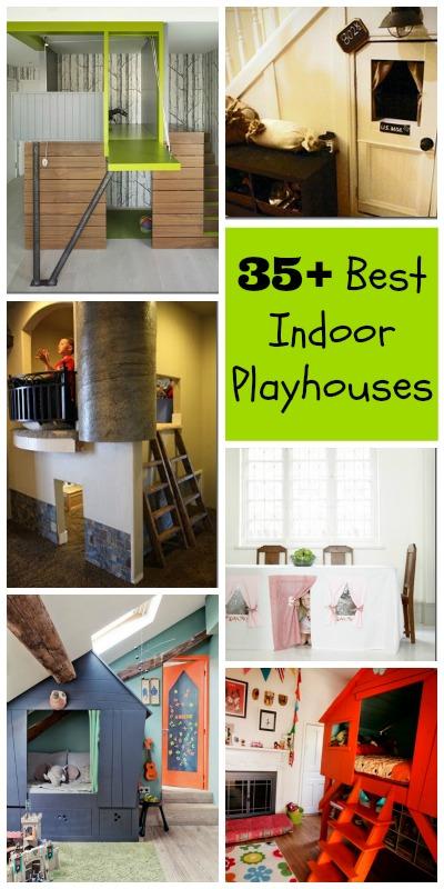 Diy playhouse indoor basements playrooms 35 best indoor for Diy indoor playhouse