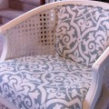 cane chair reupholster diy white light blue remodelaholic.com (600x401)
